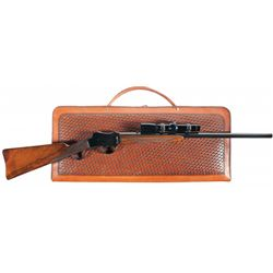 Francotte Speciale Model Single Shot Takedown Rifle with Scope and Case