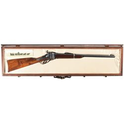 Documented Cased Shiloh Sharps Saddle Ring Carbine with Special Serial Number Range Used in The Movi