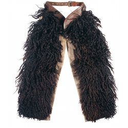 Pair of Black Angora Wooly Chaps Belonging to Artist Robert Auth