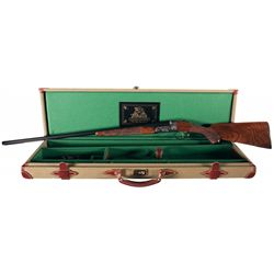 Engraved Ithaca Classic New Ithaca 4E Grade Double Barrel Shotgun with Case