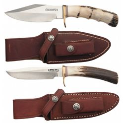 Two Randall Stag Handle Knives with Sheaths