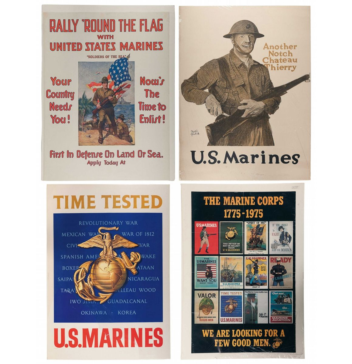 Two WWI U.S. Marine Posters And Two United States Marine