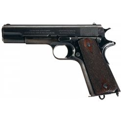 U.S. Colt Model 1911 Semi-Automatic Pistol with Holster and Magazine Pouch