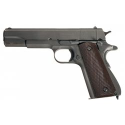 WWII U.S. Remington-Rand 1911A1 Semi-Automatic Pistol with U.S. Bianchi Holster, Magazine Pouch and