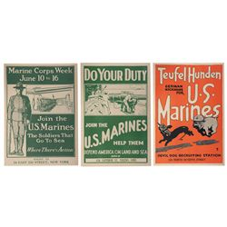 Three United States Marine Corps Recruiting Posters