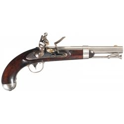 Exceptional U.S. Johnson Model 1836 Flintlock Pistol