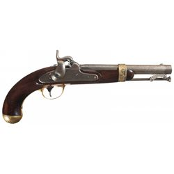 Presentation Engraved Gold-Plated Aston Model 1842 Percussion Pistol