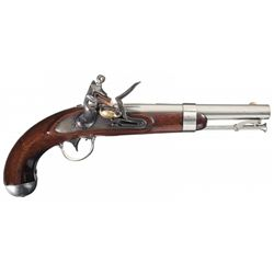 Outstanding Waters Contract U.S. Model 1836 Flintlock Pistol