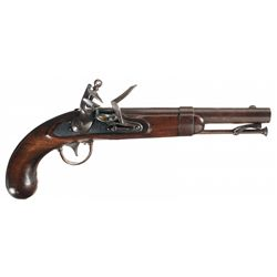 Fine U.S. Asa Waters Model 1836 Flintlock Pistol