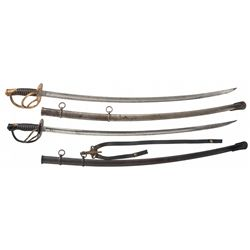 Two U.S. Light Cavalry Swords with Scabbard