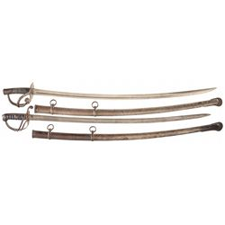Two Tiffany & Co. Cavalry Sabres with Scabbards