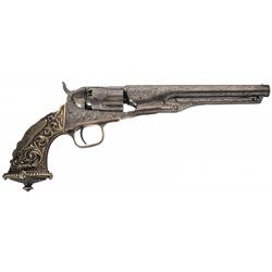 Rare Documented Colt Model 1862 Police Revolver with L.D. Nimschke Engraving and Magnificent Tiffany