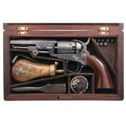 Factory Cased Colt Model 1849 Pocket Revolver