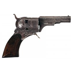 Copy of a Colt Paterson Belt Model Revolver No. 2 with Brass Percussion Capper