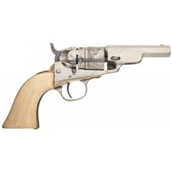 Colt Model 1862 Pocket Navy Cartridge Conversion Revolver with Ivory Grips