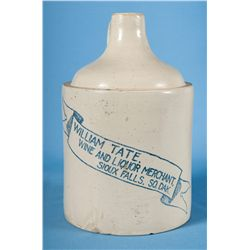 Rare Redwing Marked Jug with Liquor Merchant Advertising