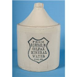 Stoneware Advertising Jug for D.C. Fry & Company of Colfax, Iowa
