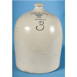 Red wing Three Gallon Bee Hive Jug with Retailer Advertising