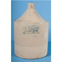 Red Wing 2 Gallon Geo. Williams Cedar Rapids IA Whisky Jug