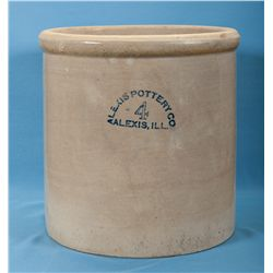 Scarce Alexis Pottery Company 4 Gallon Advertising Crock