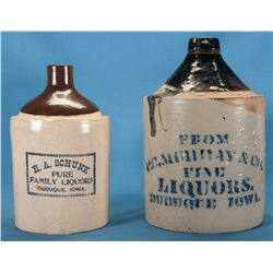 Two Scarce Iowa Liquor Jugs