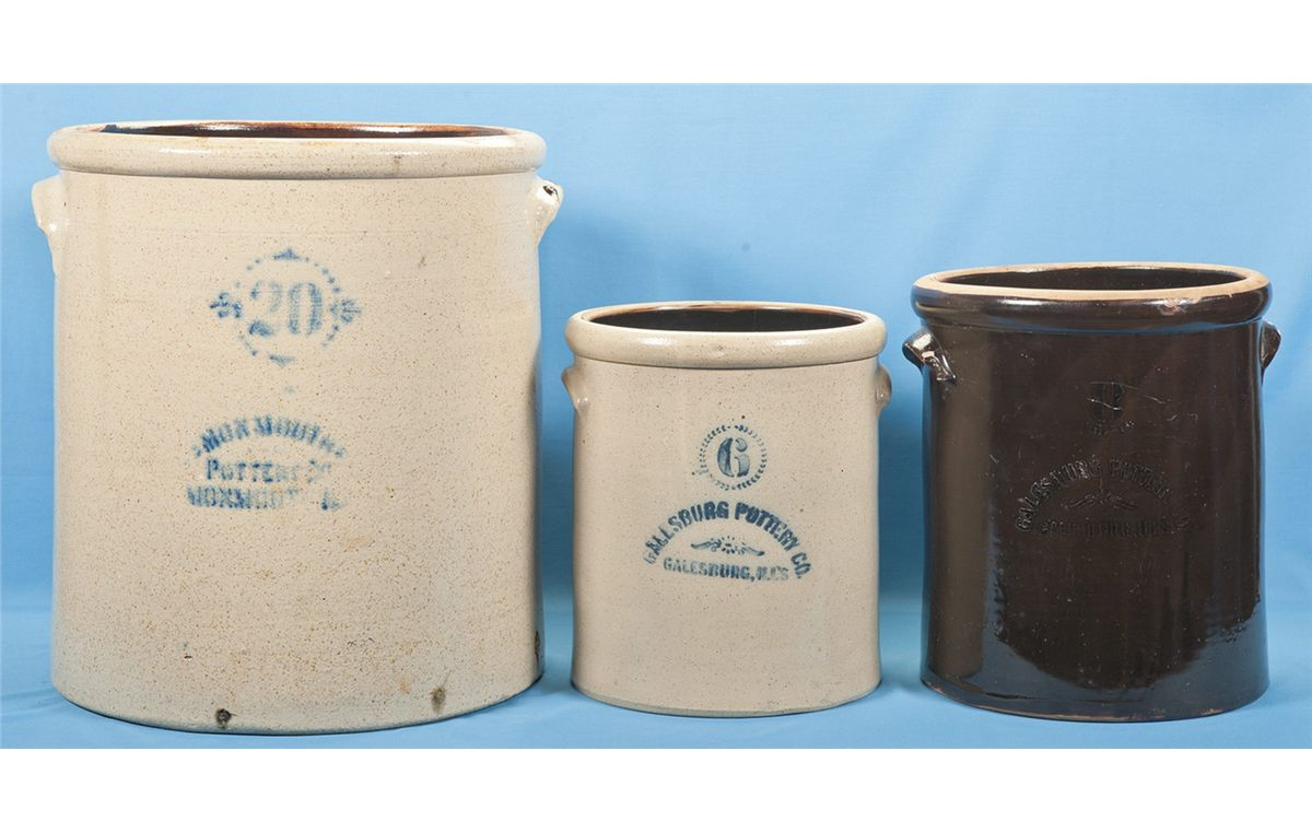 monmouth pottery crock