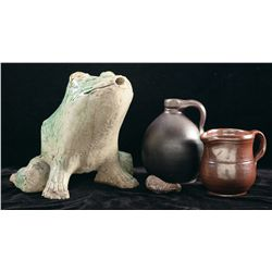 Four Stoneware Items, Including an Anna Pitcher