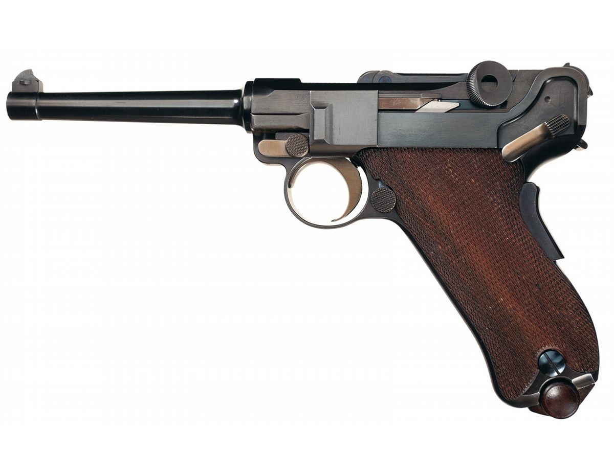 Unique Unmarked Transitional Short Frame Luger Pistol with ...