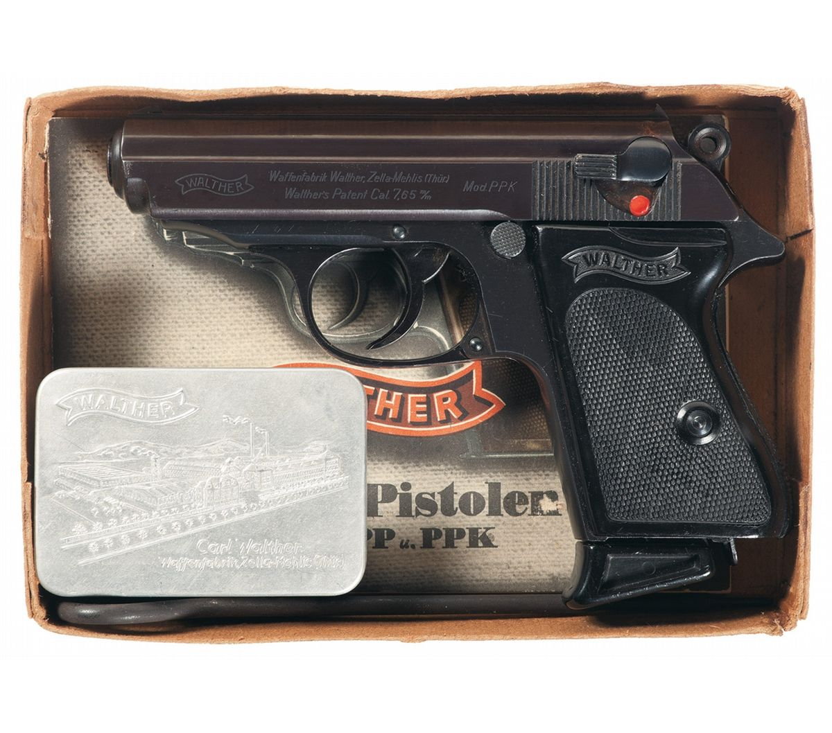 exceptional pre war walther ppk with pp walther box manual and rh icollector com Walther PPK Archer Custom Walther PPK