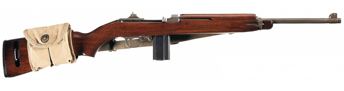 Us Winchester M1 Carbine With Sling And Magazine Pouch