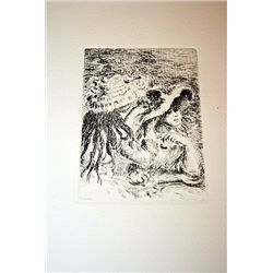 Renoir Posthumous Etching - Sur La Plage