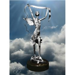 Angel of Worship - Limited Edition Real Silver Sculpture by Sergey