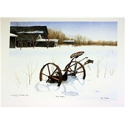 Helen Rundell Signed and Numbered Original Lithograph - Snow Shadows