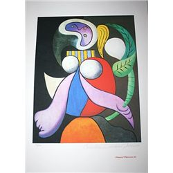 Limited Edition Picasso - Woman With A Flower - Collection Domaine Picasso