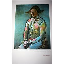 Limited Edition Picasso - Seated Harlequin - Collection Domaine Picasso