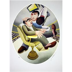 Hand Signed and Numbered Lithograph - At the Dentist