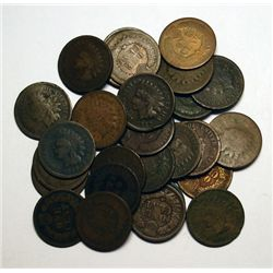 An excellent Indian penny lot for lower grade set building