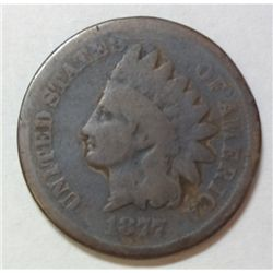 1877 Indian penny  GOOD