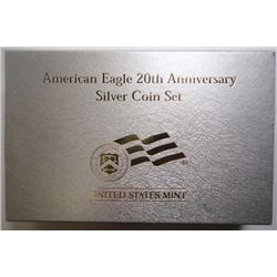 2006 20th anniv American Eagle 3 coin set