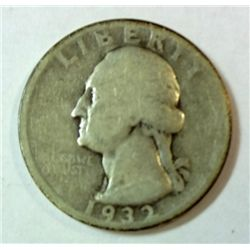 1932D Washington quarter  Good