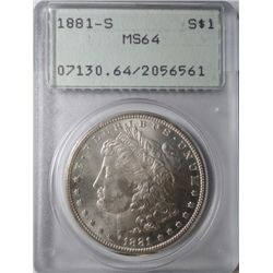 1881S Morgan $  PCGS64