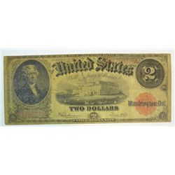 1917 $2  legal tender note  VG