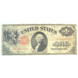 1917 $1  legal tender note  VG