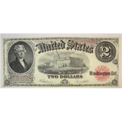 1917 $2  US legal tender note  AU/CU