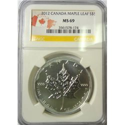 2012 Canada  Maple Leaf 1oz.   silver