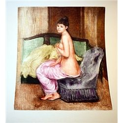 Le Repos- Renoir - Colored Etching