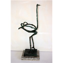 Diego Giacometti Original  Original, limited Edition  Bronze -Ostrich