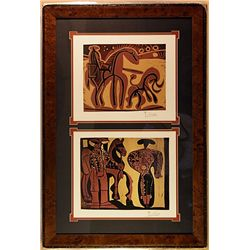 PICASSCO ORIGINAL LINOCUTS.