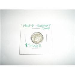 1962-D Mercury Silver Dime *PLEASE LOOK AT PICTURE TO DETERMINE GRADE - COIN OUT OF SAFE DEPOSIT BOX