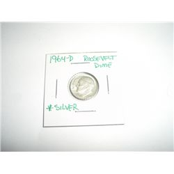 1964-D Mercury Silver Dime *PLEASE LOOK AT PICTURE TO DETERMINE GRADE - COIN OUT OF SAFE DEPOSIT BOX